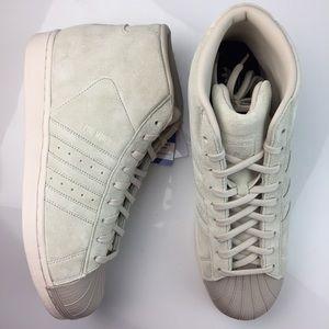 NEW Adidas Pro Model Tan Suede Sneakers Men's